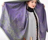 عرضه زیباترین شال های ساتن ابریشم زنانه