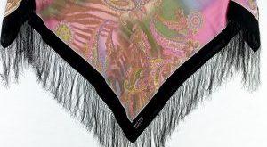 روسری ترکمنی پشم اصل